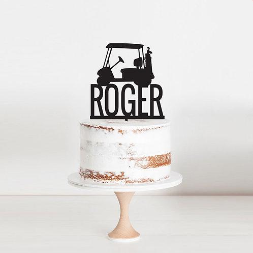 Golf Buggy - Cake Topper