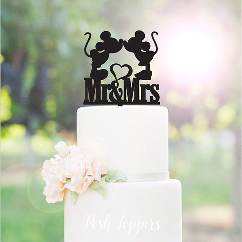 Minnie & Mickey Mr & Mrs - Wedding Cake Topper