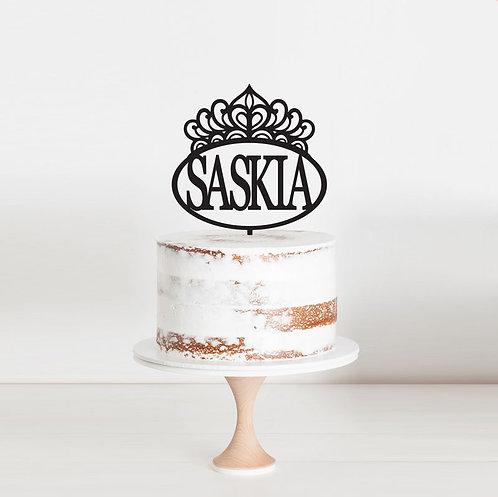 Princess Crown Hoop - Custom Name Cake Topper