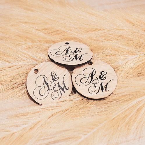 Script Circle Initials  - Personalised Gift Tags Packs
