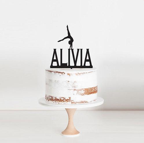 Gymnastics Custom Name - Cake Topper 3