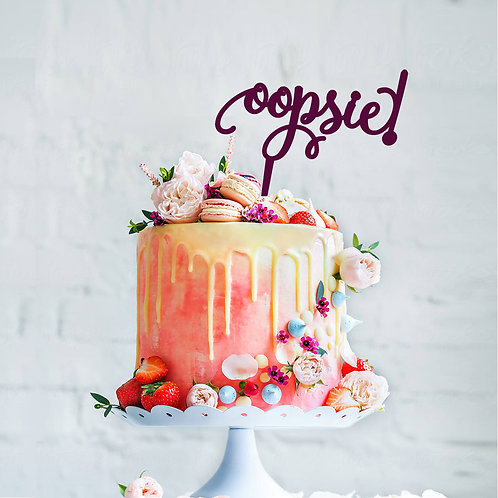 Oopsie! - Baby Shower Cake Topper