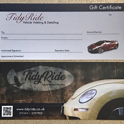 Gift Certificate - Silver Valet