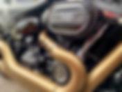 Harley Davidson fat bob motorbike cerami