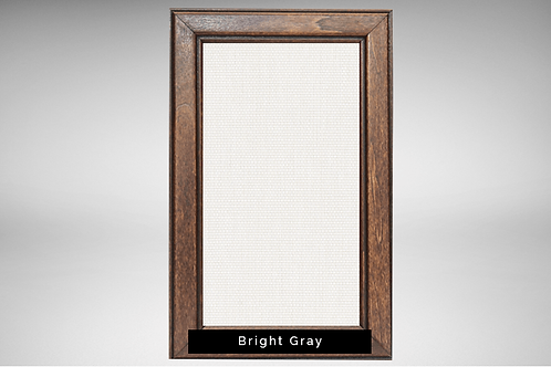 Walnut Frame Covers with Transparent or Opaque Fabrics