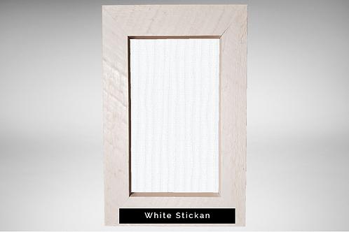 White Barnwood Frame Covers with Designer Fabrics