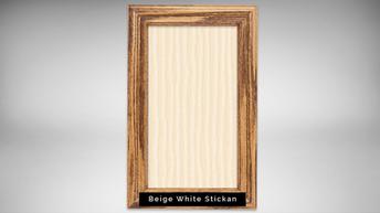 beige white stickan - natural light fram