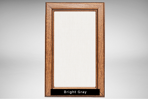 Pecan Frame Covers with Transparent or Opaque Fabrics