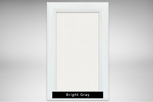 White Frame Covers with Transparent or Opaque Fabrics