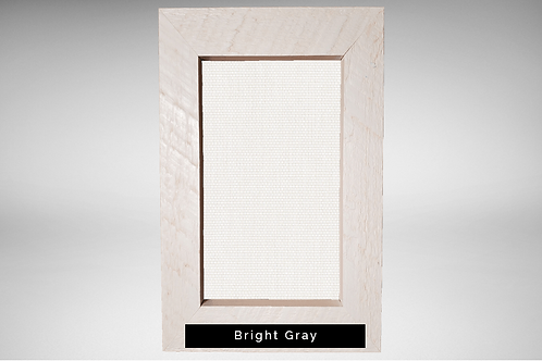 White Barnwood Frame Covers with Transparent or Opaque Fabrics