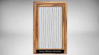 gray white stickan - natural light frame