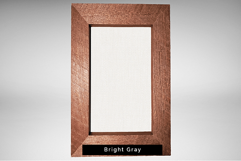 Rustic Frame Covers with Transparent or Opaque Fabrics