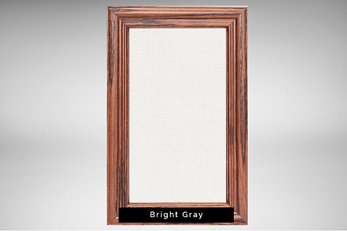 Chestnut Frame Covers with Transparent or Opaque Fabrics