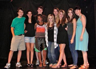 Deb with Acteen improv students 2009.