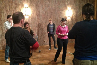 Deb teaches musical improvisation to students in Asheville North Carolina's NYS3 Acting Conservatory.