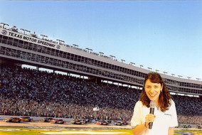 Deb hosts for Bank of America at NASCAR's Texas Motor Speedway.