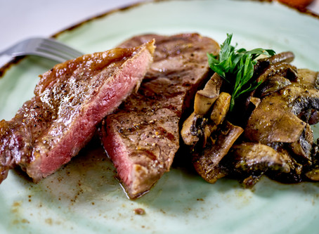 Steak with Moroccan Mushrooms