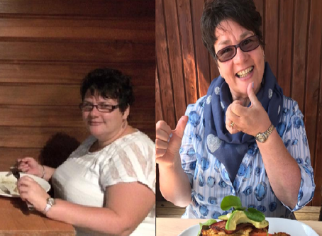 Incredible changes from Jane Diston - an inspiration to us all