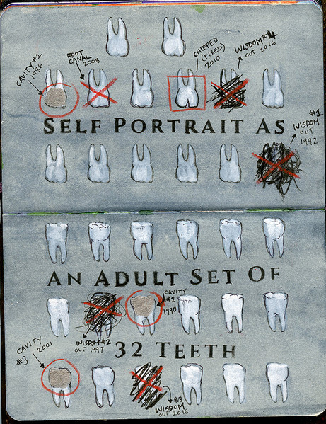 Self Portrait as an Adult Set of 32 Teeth
