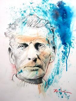 Portrait of Samuel Beckett (sold)