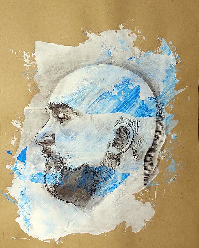 Mixed Media Sketchbook Portrait 2