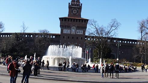 Visiting The Sforza Castle, Milan