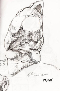 Sketch of the Belvedere Torso V