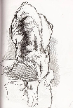 Sketch of the Belvedere Torso XI