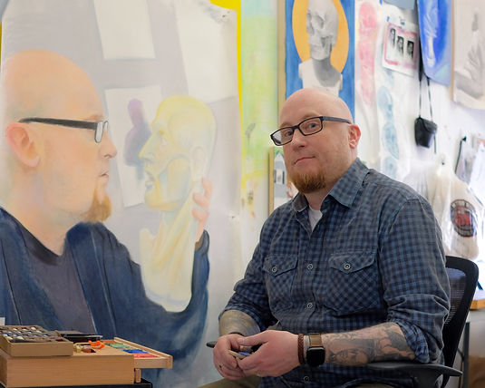 nyc artisti Phil Eliot Padwe in Tribeca studio