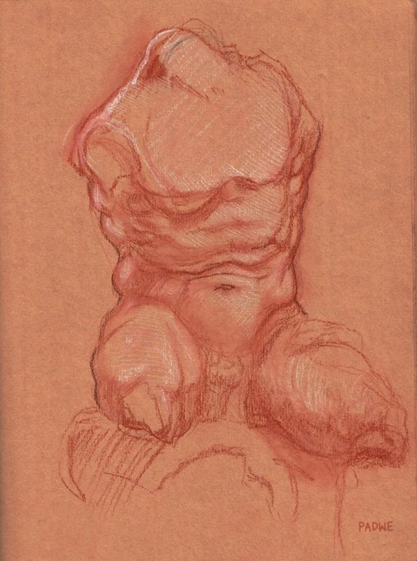 Sketch of the Belvedere Torso II