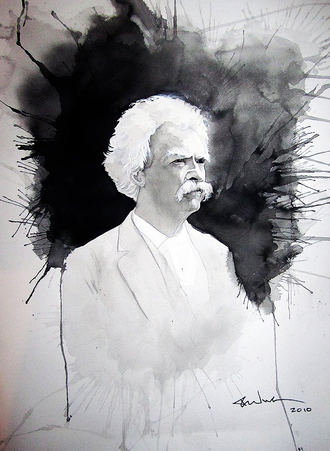 Portrait of Mark Twain (Sold)