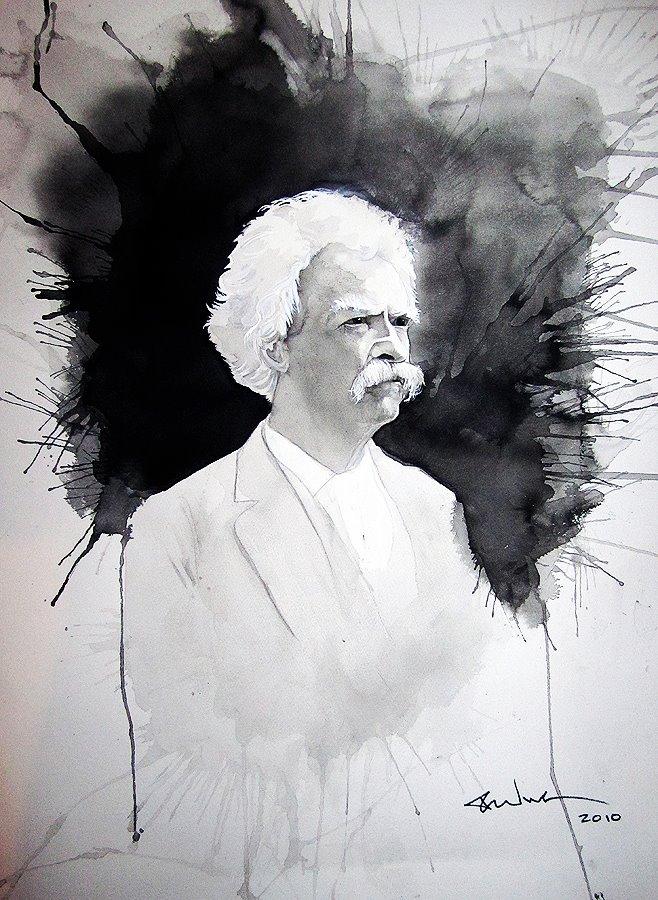 Portrait of Mark Twain (Sold)
