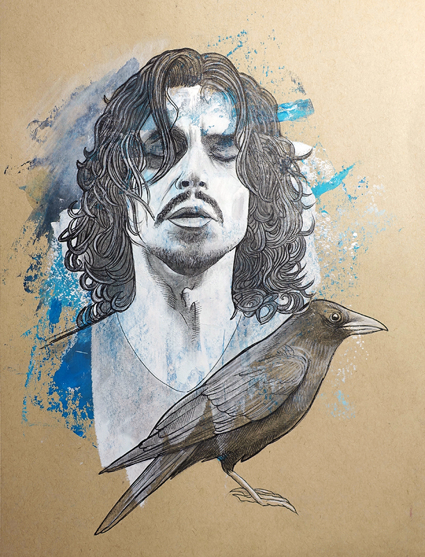 Death Mask (Portrait, Chris Cornell)