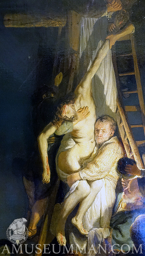 Detail of Rembrandt's Deposition