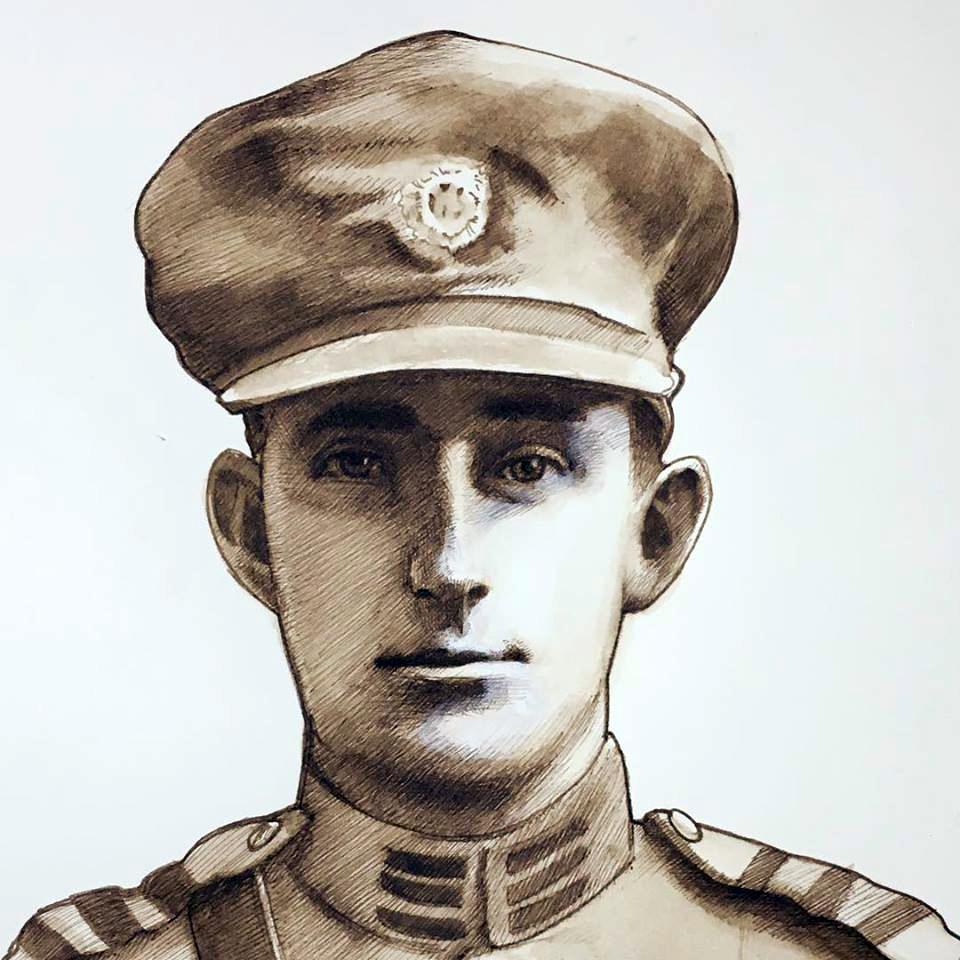 Portrait of Irish Cmdr Pat Madden