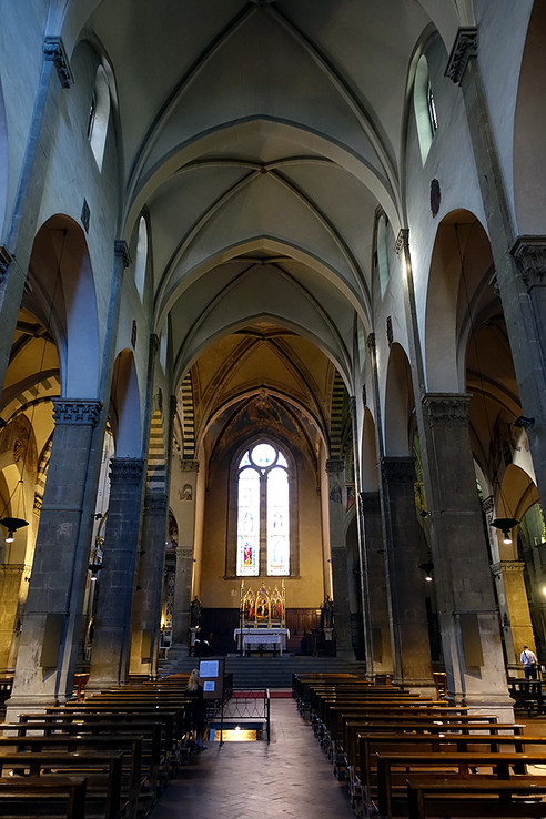 Visiting Santa Trinita (Holy Trinity Church), Florence