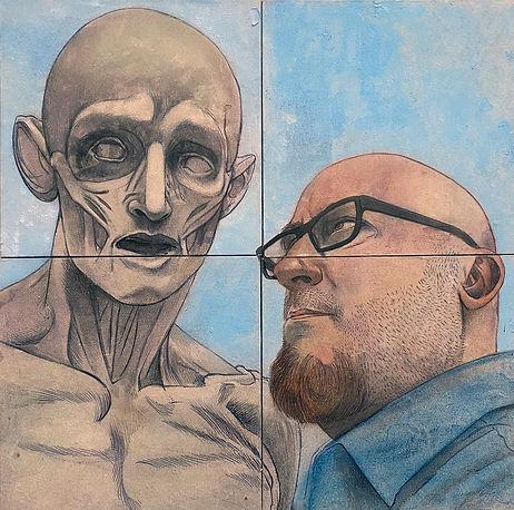 Padwe_Philip_Self-Portrait-with-Saint-of