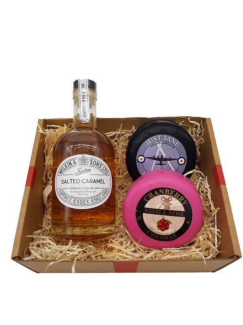 Salted Caramel Liquor and Cheese Box