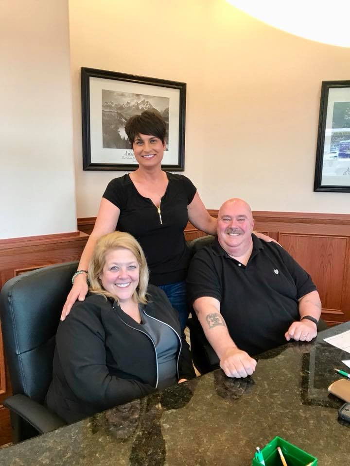 John and Paula Yanochik with realtor Janine Christian