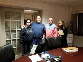 The McCrosky family with realtor Kimberl