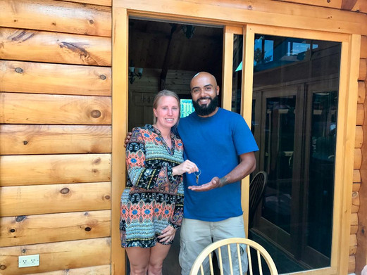 New homeowner Jay with Realtor Crystal Stash