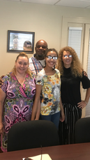 Mady Guzman and family with realtor Mich