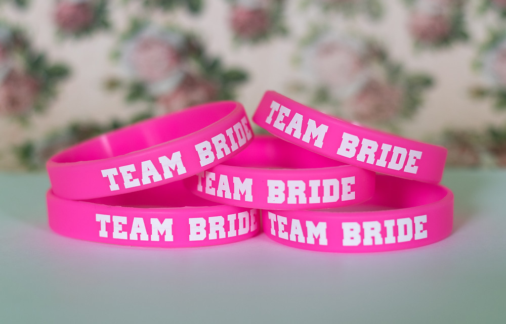 team bride wristband