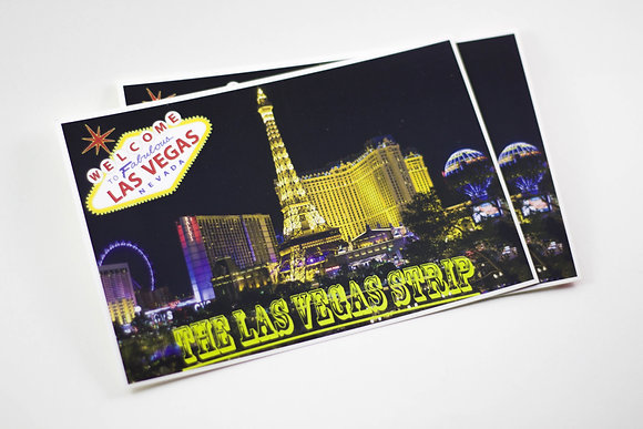 Las Vegas Postcard & Stamp