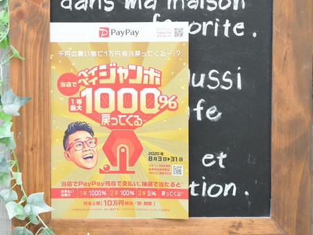 最大1000%ポイントバック!8月31日までのペイペイジャンボ開催中!