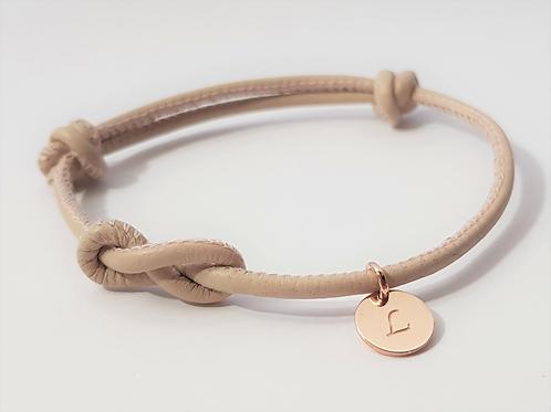 INFINITY Armband Leder & 925 SILBER rosévergoldet