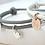 Thumbnail: SweetHeart Armband SET Leder & 925 SILBER Partnerarmbänder