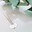 Thumbnail: Just SIMPLE! Kette Initialen 925 SILBER rosévergoldet
