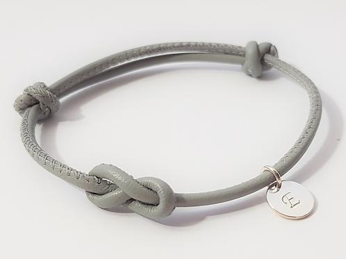 INFINITY Armband Leder & 925 SILBER