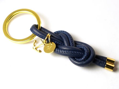 AHOI! Schlüsselanhänger Leder & 925 SILBER
